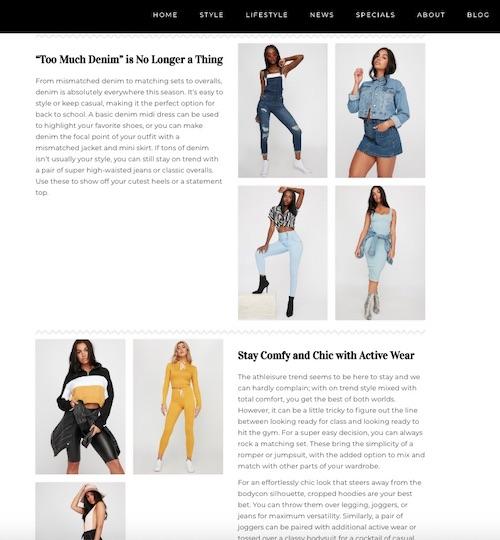 SEO Fashion Blog
